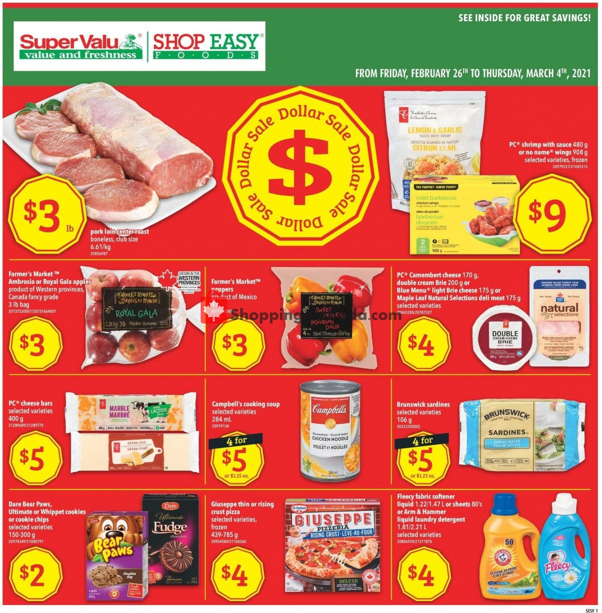 Flyer Shop Easy Foods & SuperValu Canada - from Friday February 26, 2021 to Thursday March 4, 2021