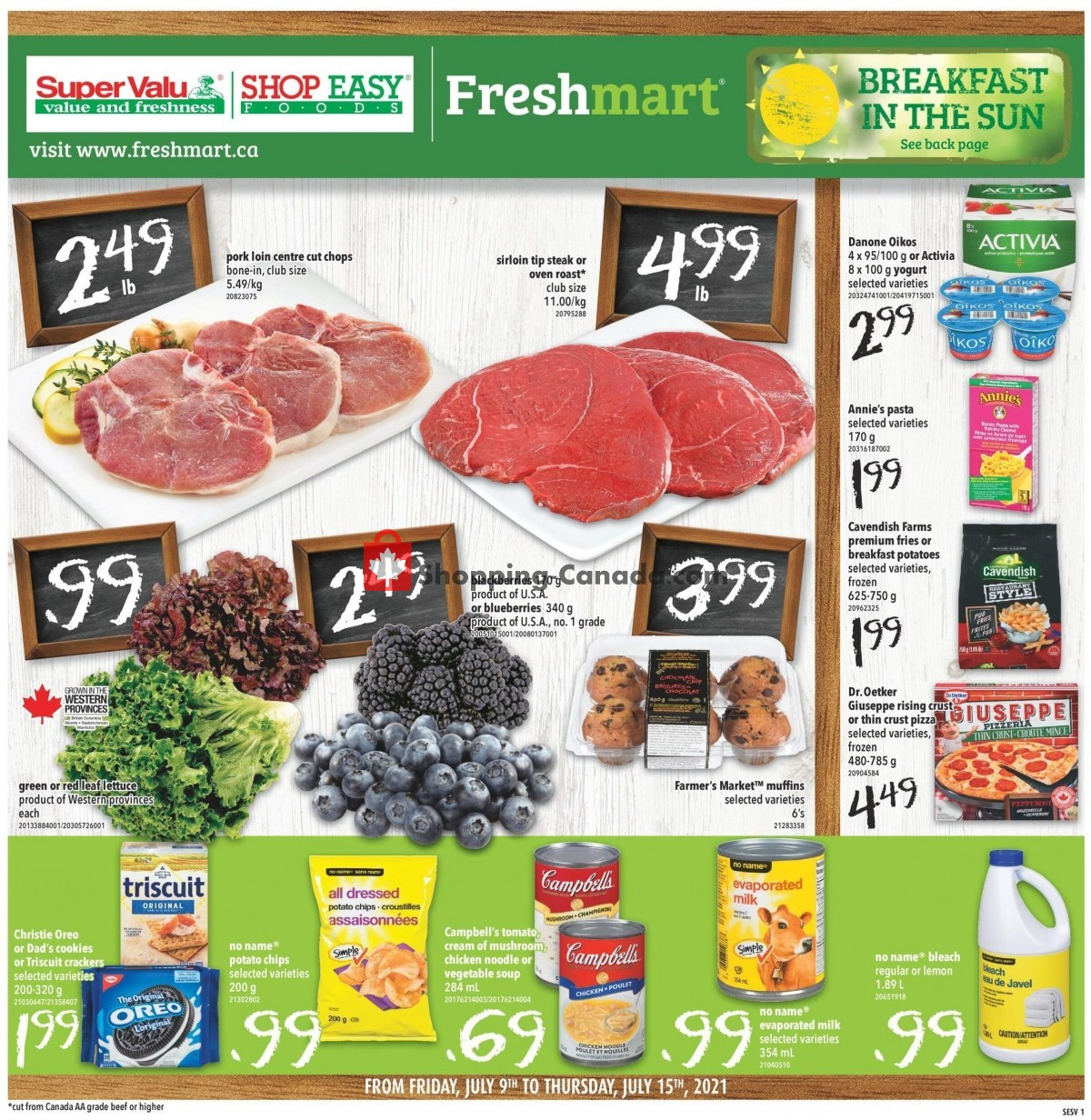 Flyer Shop Easy Foods & SuperValu Canada - from Friday July 9, 2021 to Thursday July 15, 2021