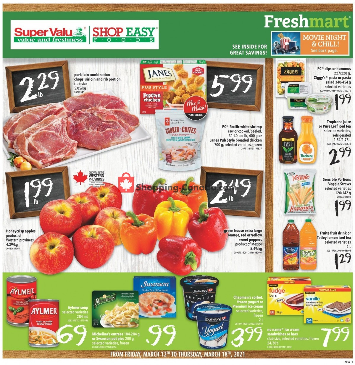 Flyer Shop Easy Foods & SuperValu Canada - from Friday March 12, 2021 to Thursday March 18, 2021