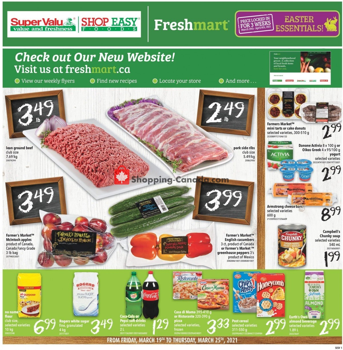 Flyer Shop Easy Foods & SuperValu Canada - from Friday March 19, 2021 to Thursday March 25, 2021