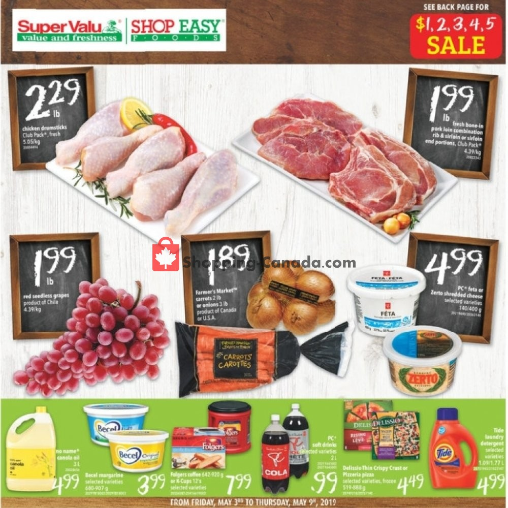Flyer Shop Easy Foods & SuperValu Canada - from Friday May 3, 2019 to Thursday May 9, 2019