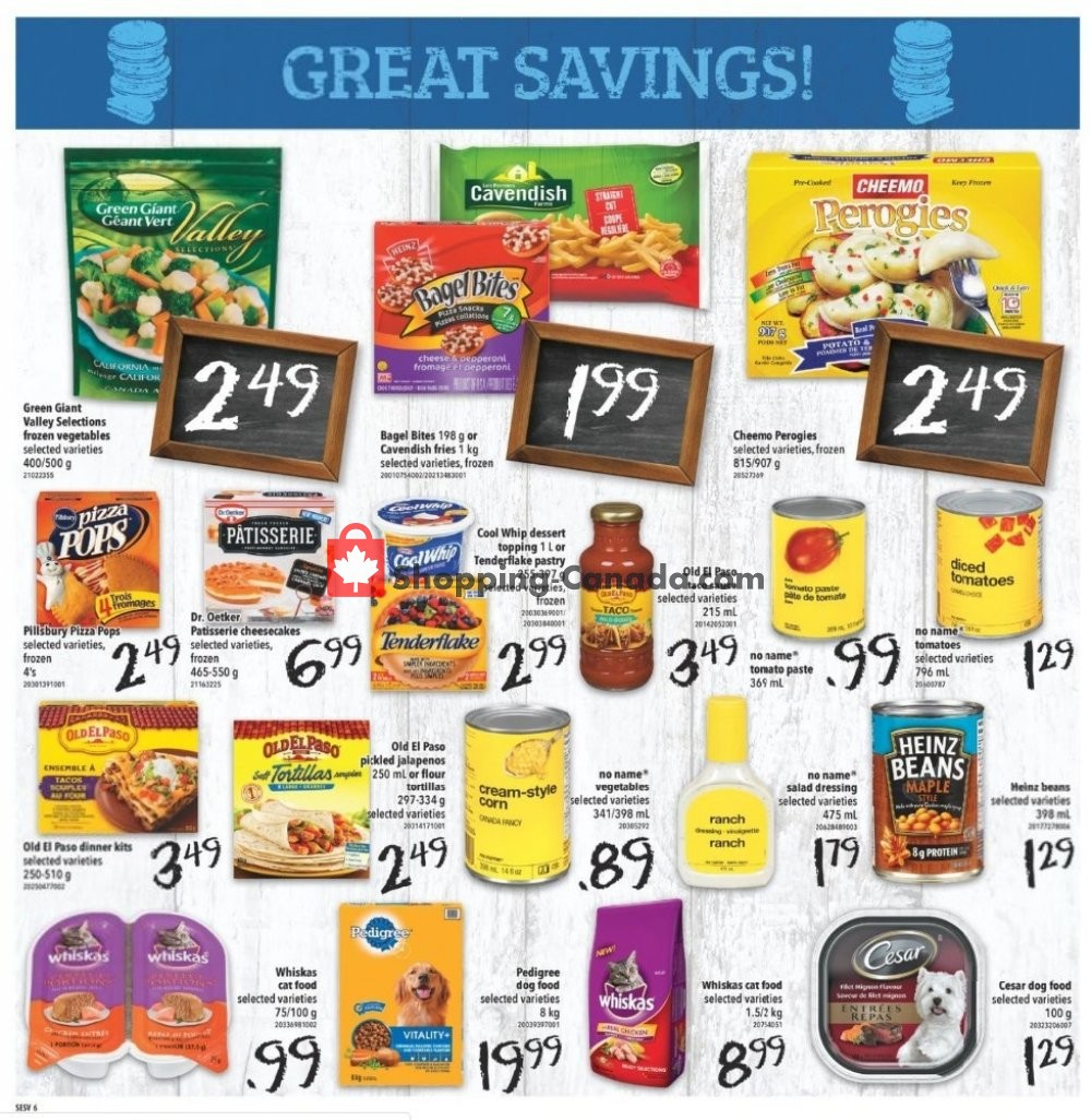 Flyer Shop Easy Foods & SuperValu Canada - from Friday November 8, 2019 to Thursday November 14, 2019
