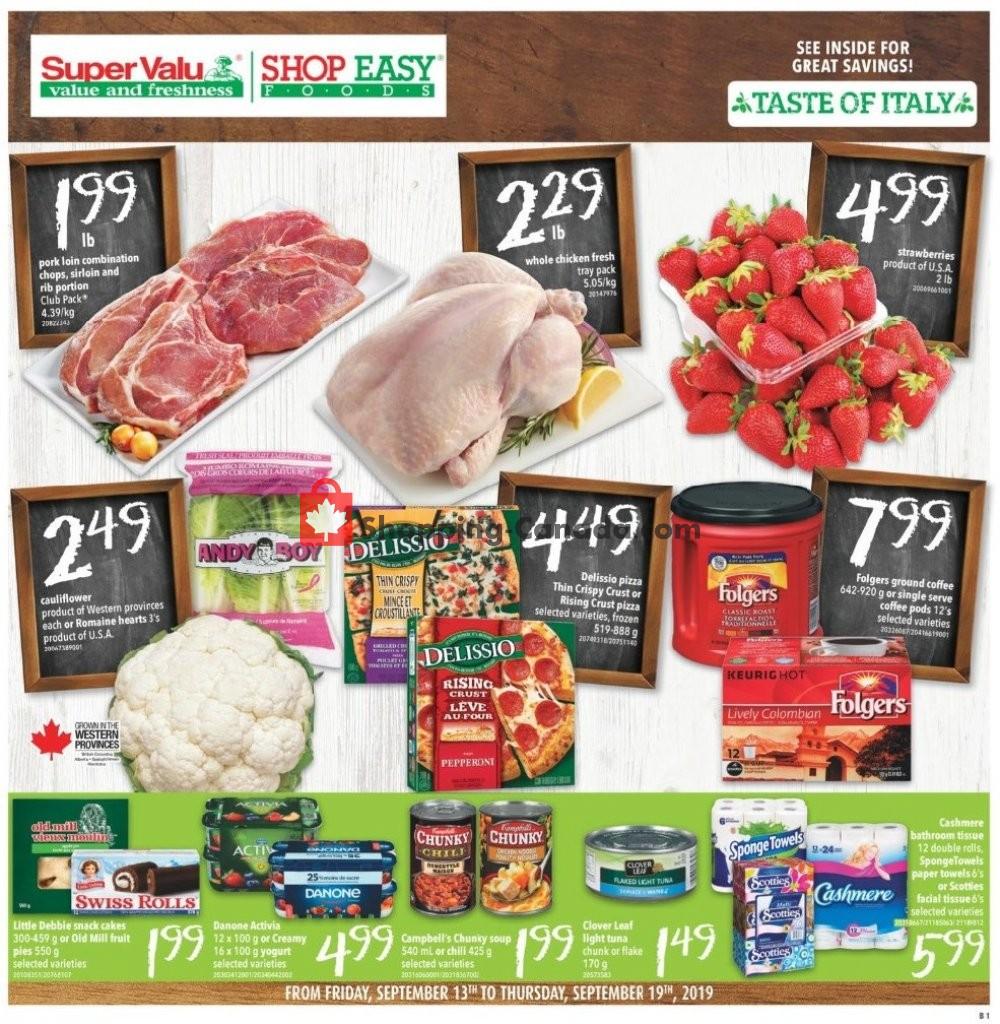 Flyer Shop Easy Foods & SuperValu Canada - from Friday September 13, 2019 to Thursday September 19, 2019