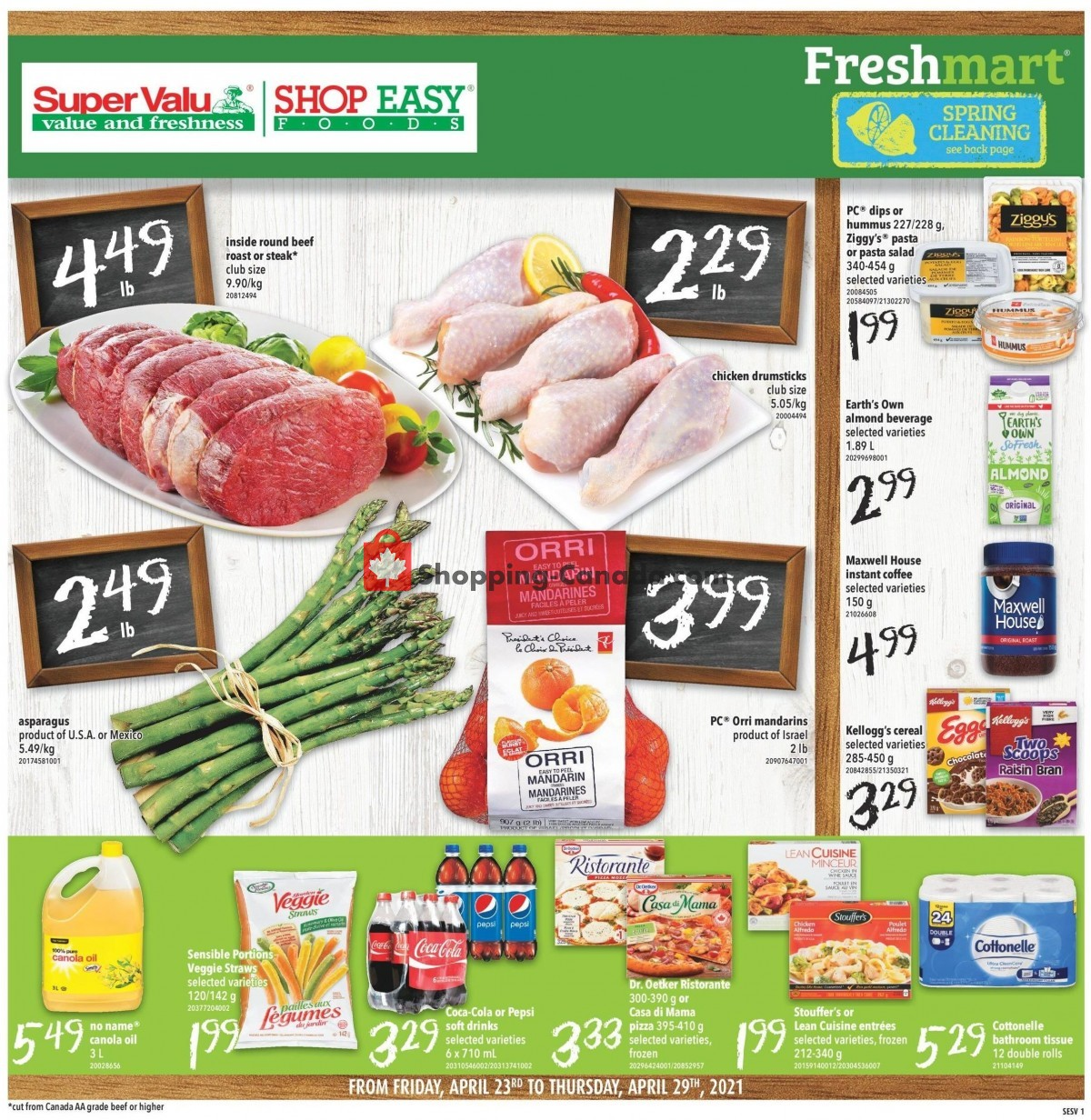 Flyer Shop Easy Foods & SuperValu Canada - from Friday April 23, 2021 to Thursday April 29, 2021