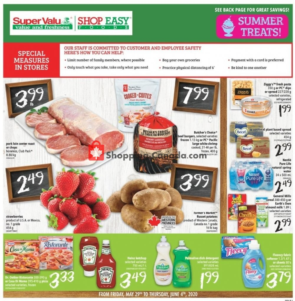 Flyer Shop Easy Foods & SuperValu Canada - from Friday May 29, 2020 to Thursday June 4, 2020