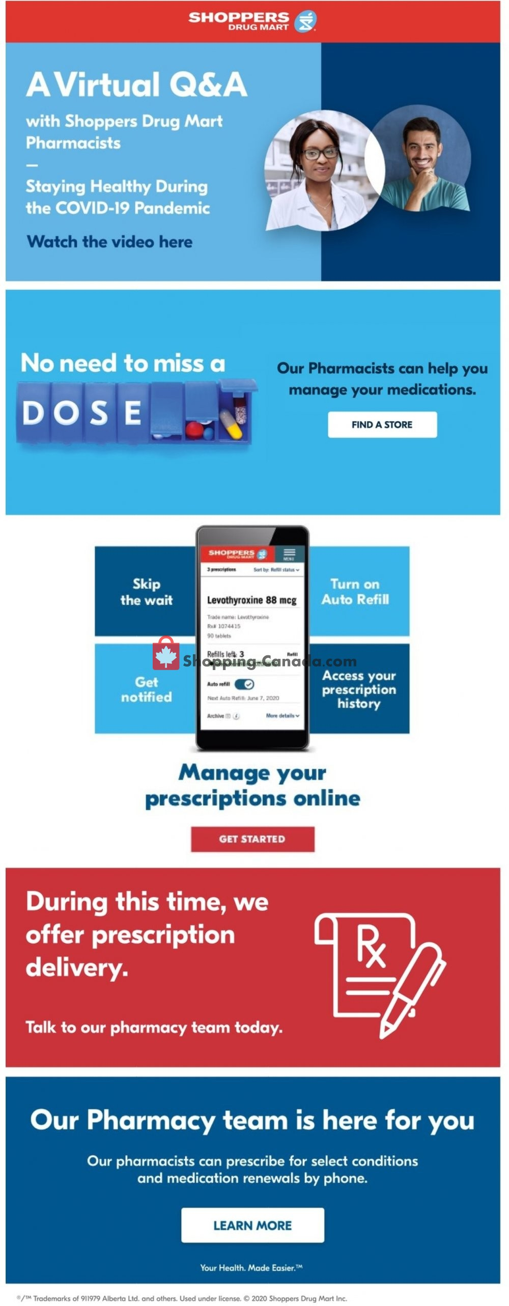 Flyer Shoppers Drug Mart Canada - from Saturday August 8, 2020 to Thursday August 13, 2020