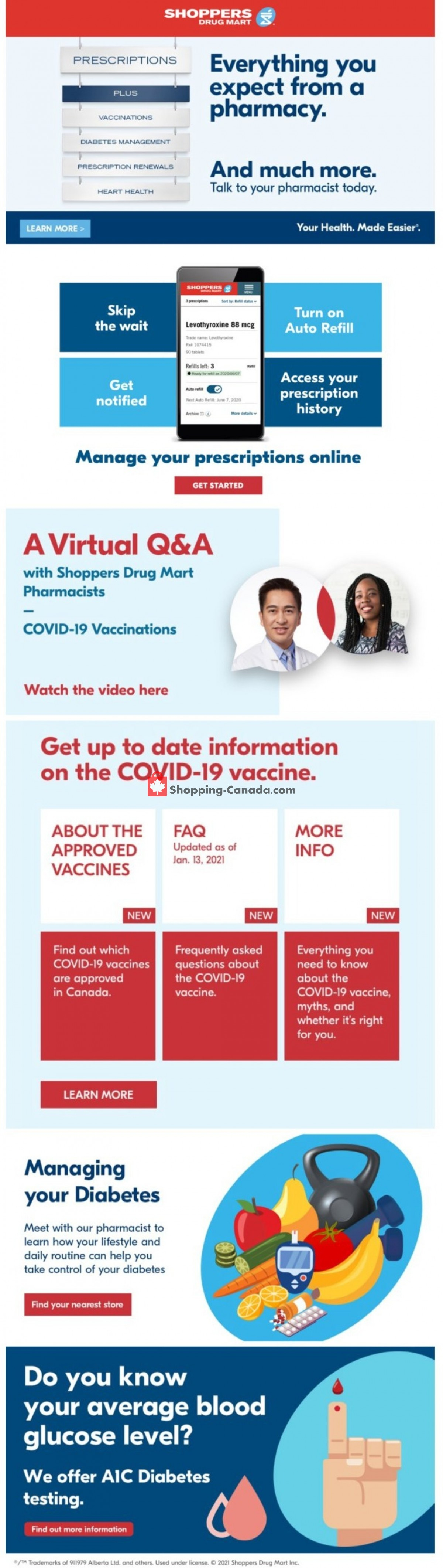 Flyer Shoppers Drug Mart Canada - from Saturday February 27, 2021 to Thursday March 4, 2021