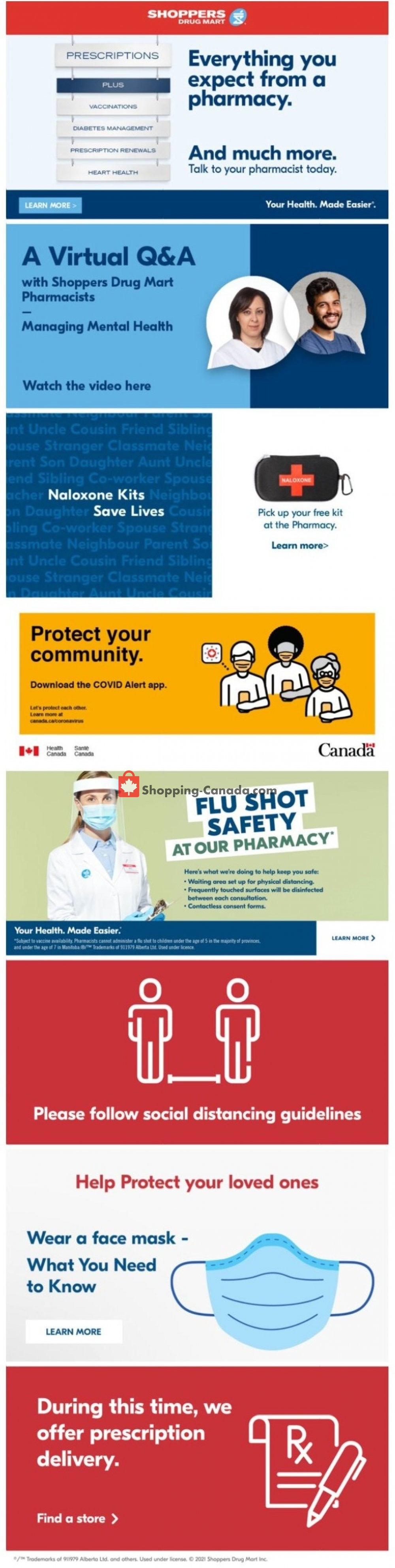 Flyer Shoppers Drug Mart Canada - from Saturday January 16, 2021 to Thursday January 21, 2021
