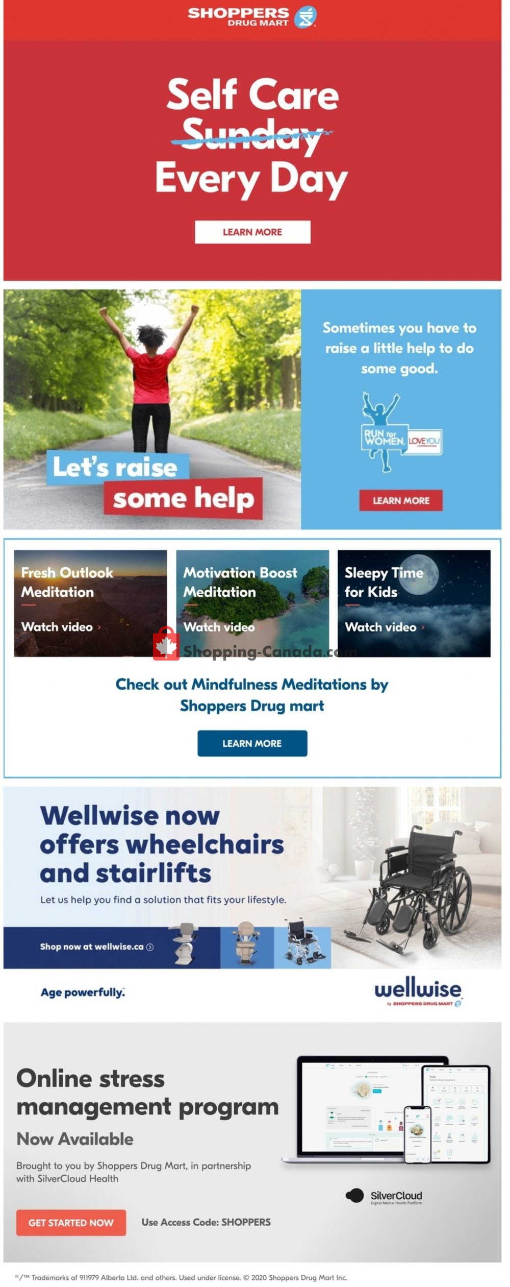 Flyer Shoppers Drug Mart Canada - from Saturday July 25, 2020 to Thursday July 30, 2020