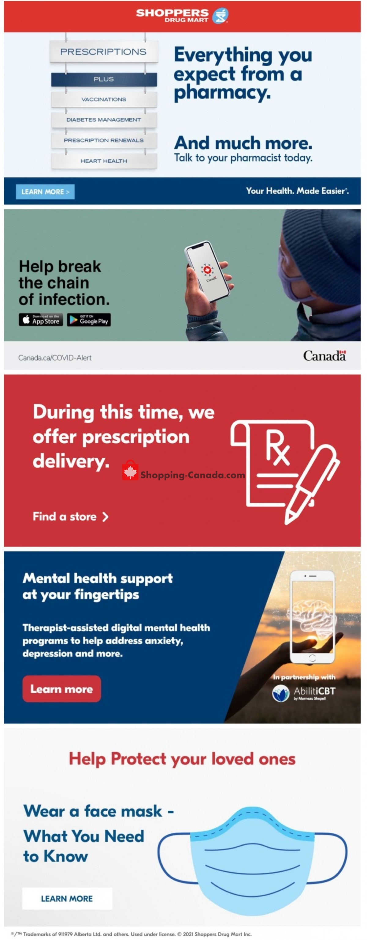 Flyer Shoppers Drug Mart Canada - from Saturday May 15, 2021 to Thursday May 20, 2021