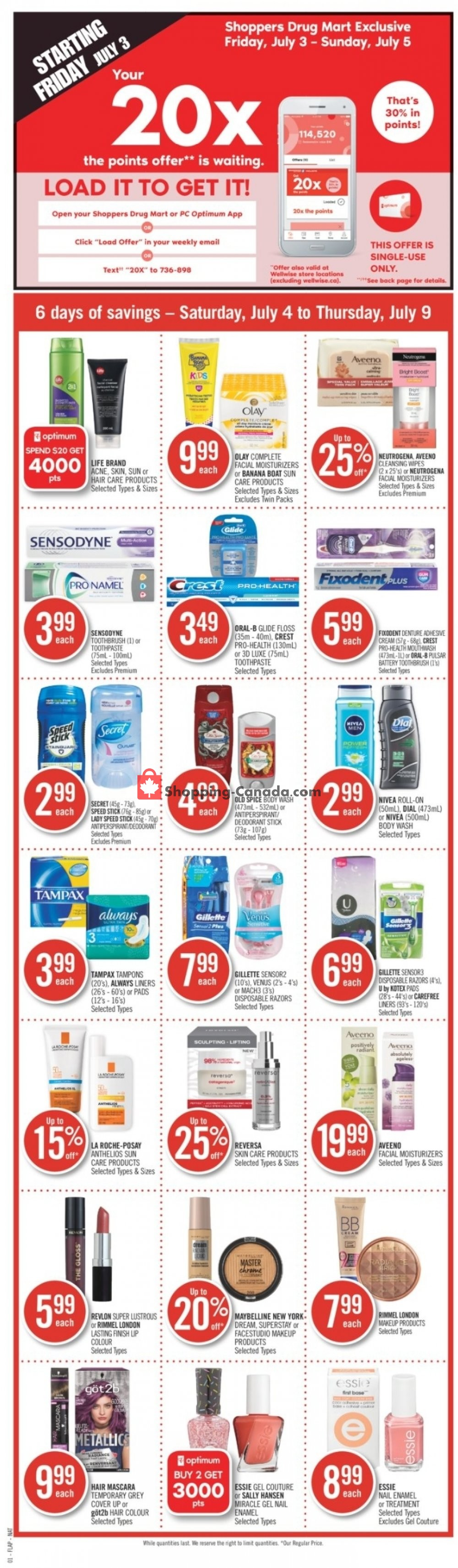 Flyer Shoppers Drug Mart Canada - from Saturday July 4, 2020 to Thursday July 9, 2020