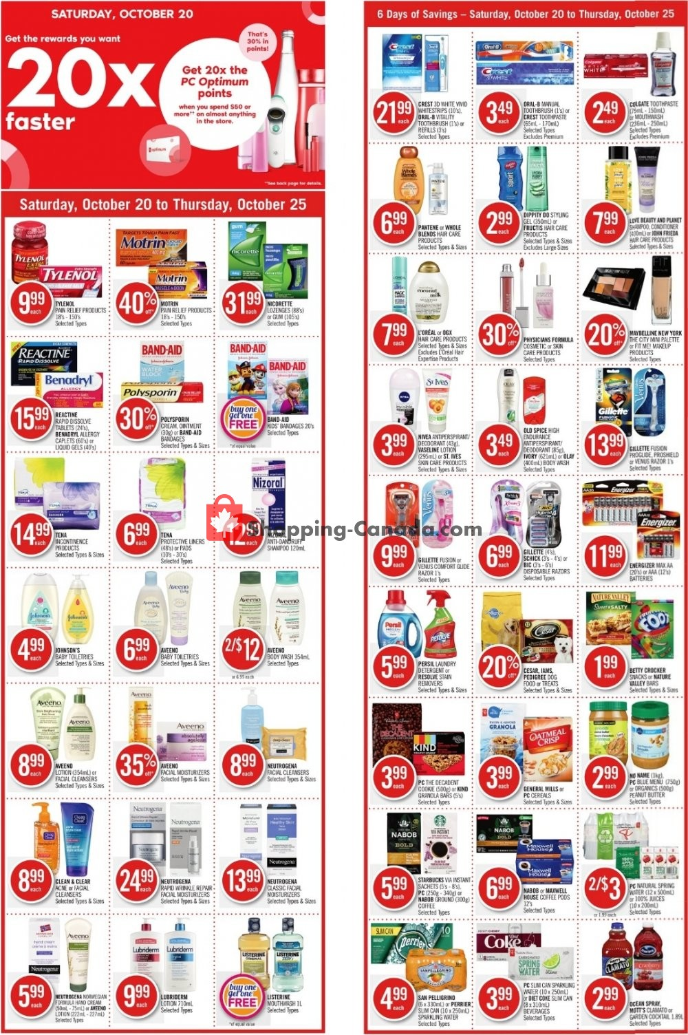 Flyer Shoppers Drug Mart Canada - from Saturday October 20, 2018 to Thursday October 25, 2018