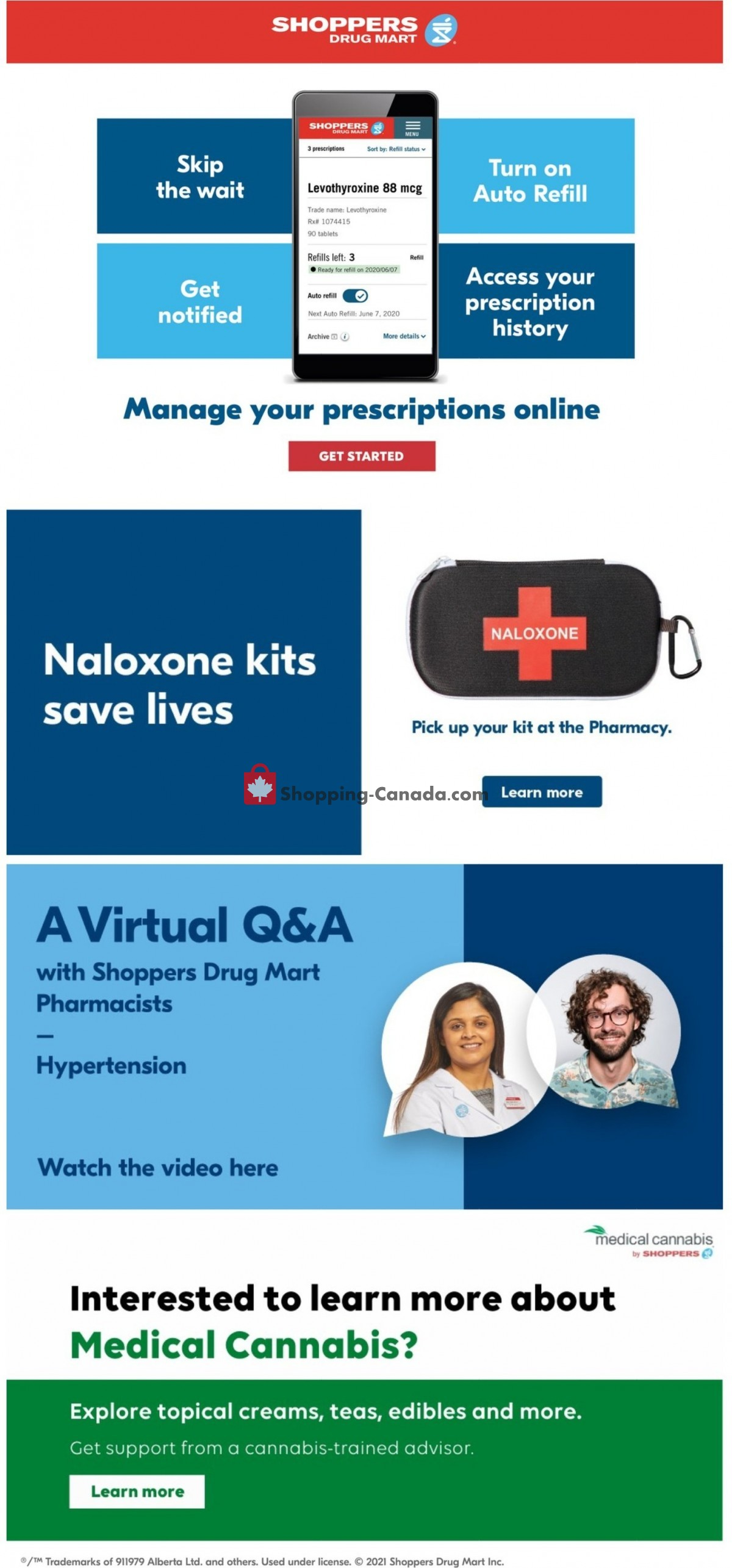 Flyer Shoppers Drug Mart Canada - from Saturday June 5, 2021 to Thursday June 10, 2021