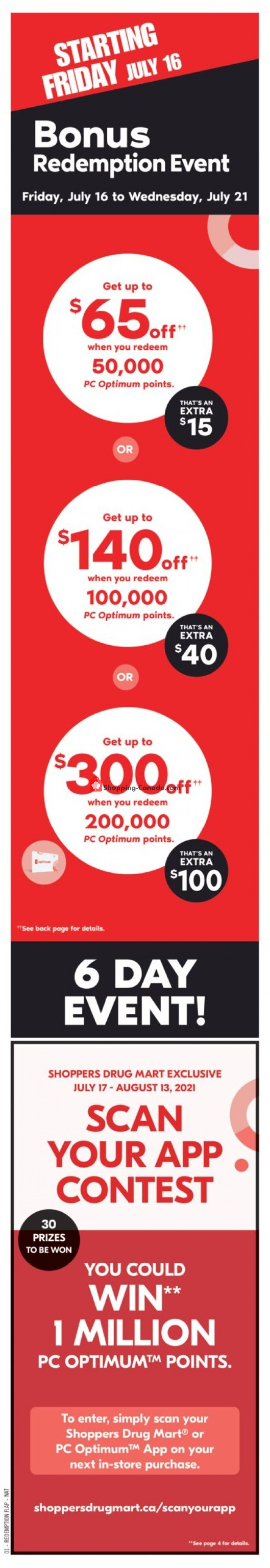 Flyer Shoppers Drug Mart Canada - from Saturday July 17, 2021 to Friday July 23, 2021