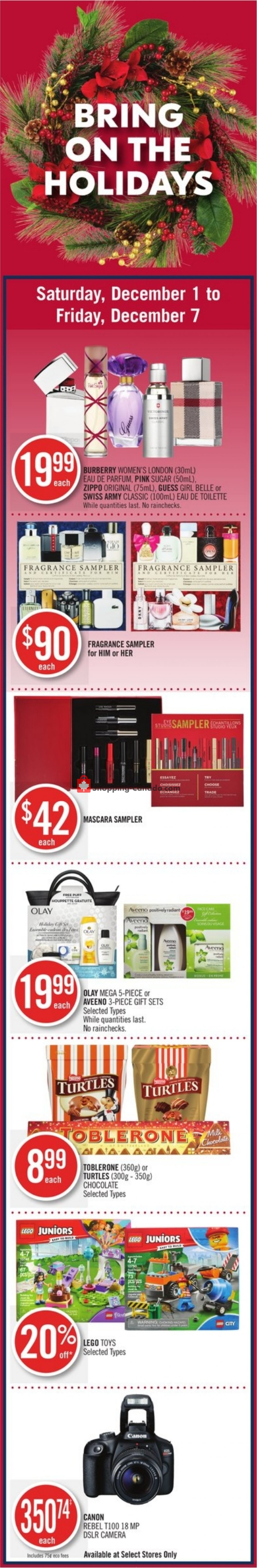 Flyer and weekly ads: Shoppers Drug Mart Canada - (Bring on