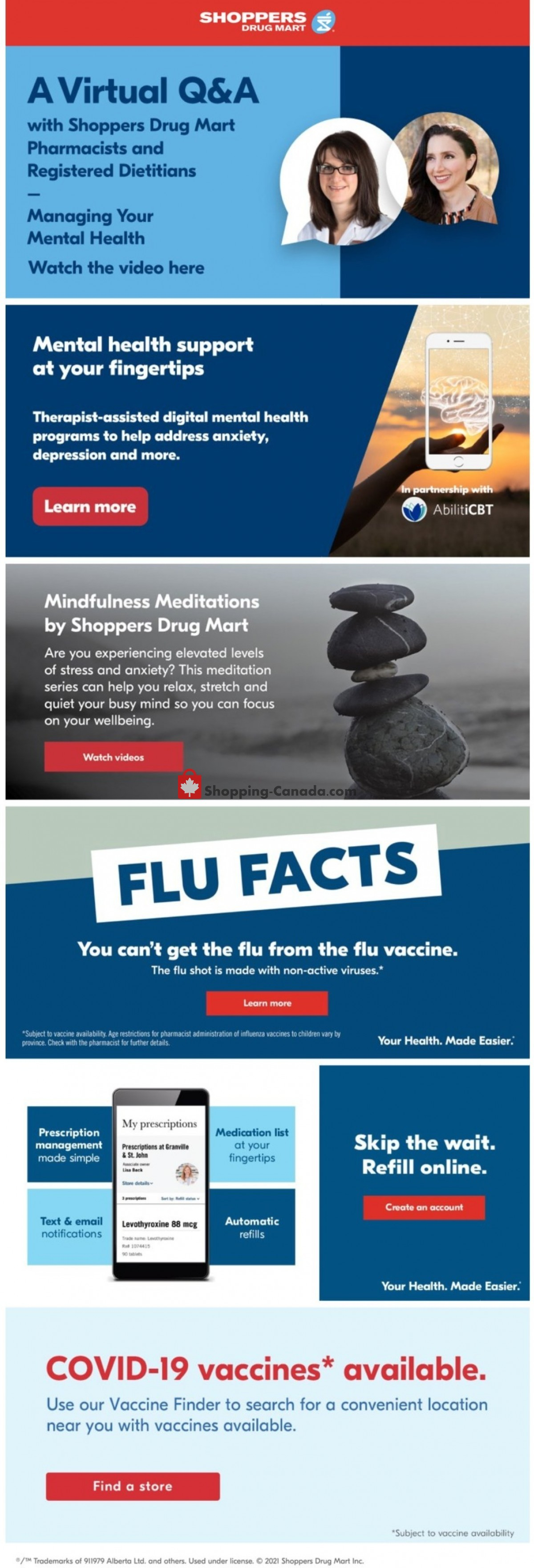 Flyer Shoppers Drug Mart Canada - from Saturday October 9, 2021 to Thursday October 14, 2021