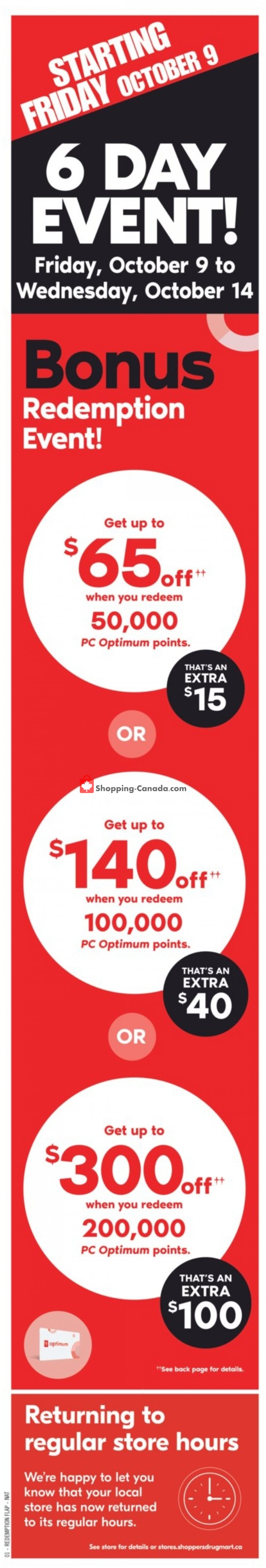 Flyer Shoppers Drug Mart Canada - from Saturday October 10, 2020 to Friday October 16, 2020