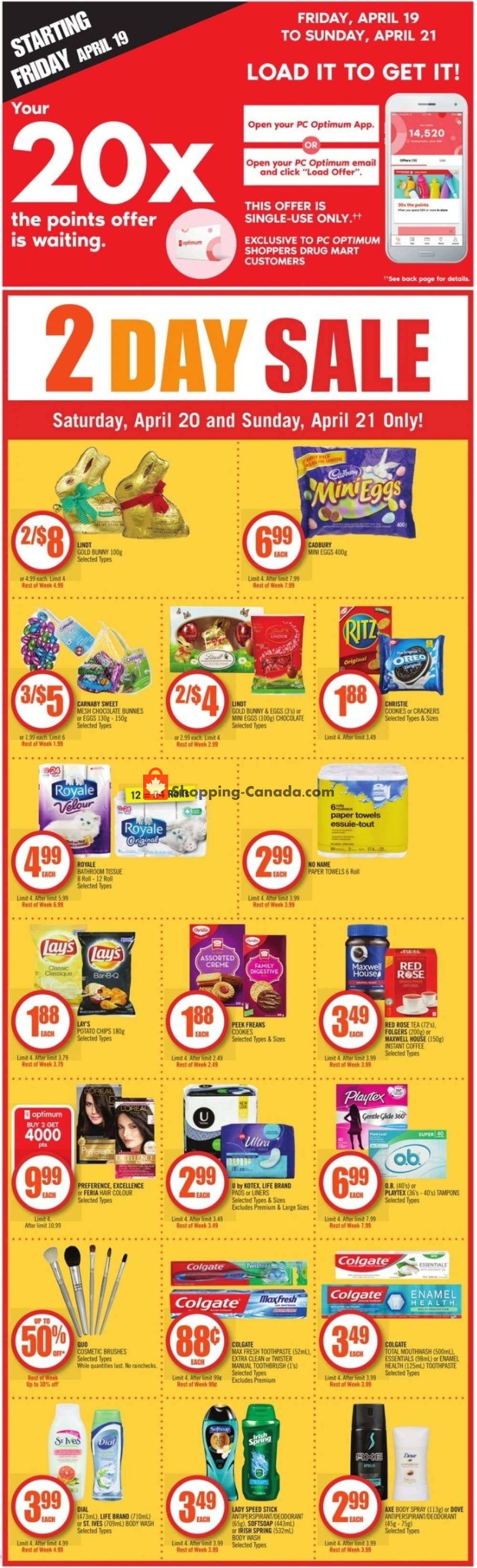 Flyer and weekly ads: Shoppers Drug Mart Canada - (Hot Deal