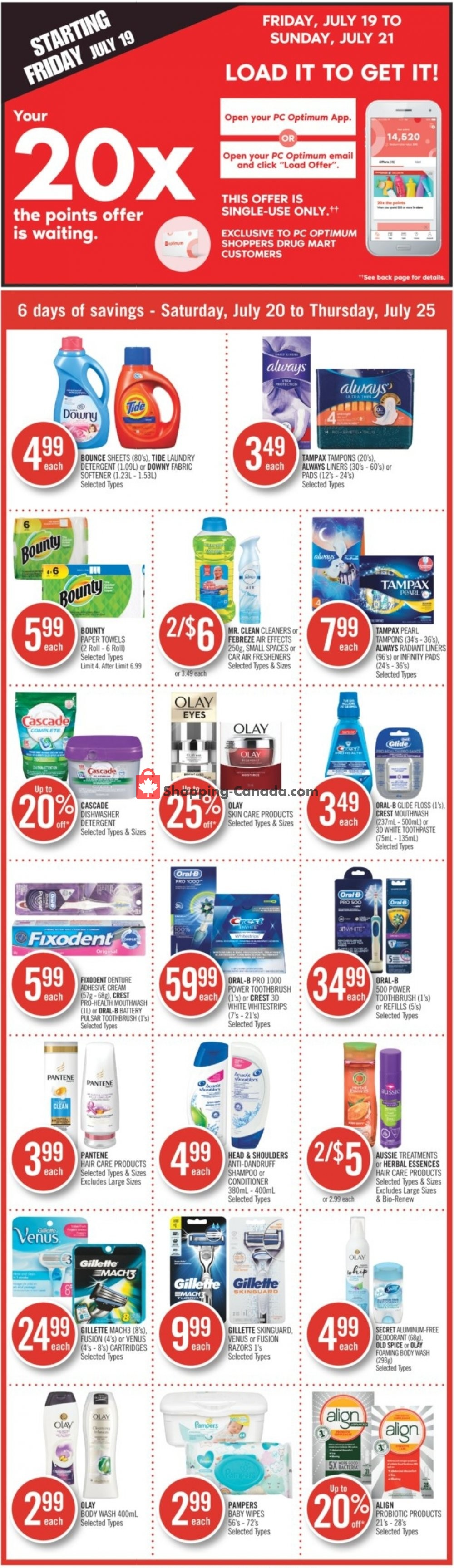 Flyer and weekly ads: Shoppers Drug Mart Canada - (Hot Offer