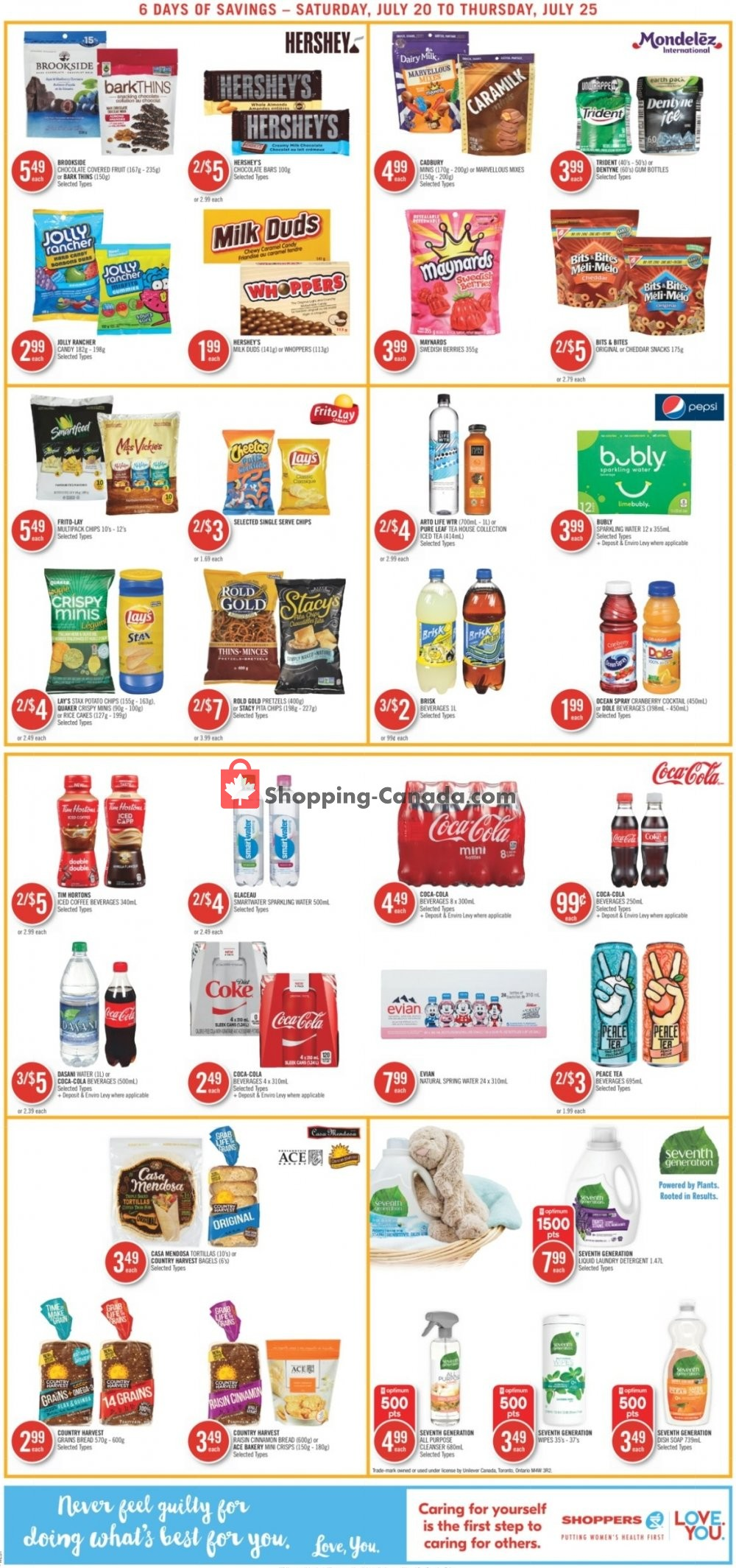 Flyer Shoppers Drug Mart Canada - from Saturday July 20, 2019 to Thursday July 25, 2019