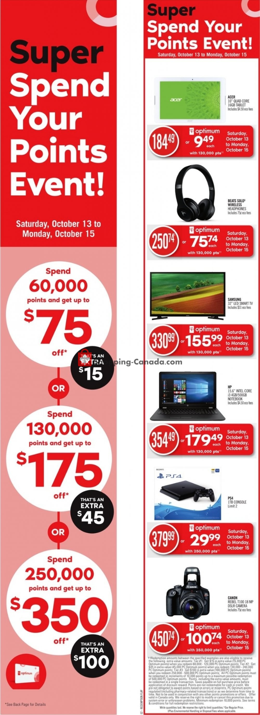 Flyer Shoppers Drug Mart Canada - from Saturday October 13, 2018 to Friday October 19, 2018