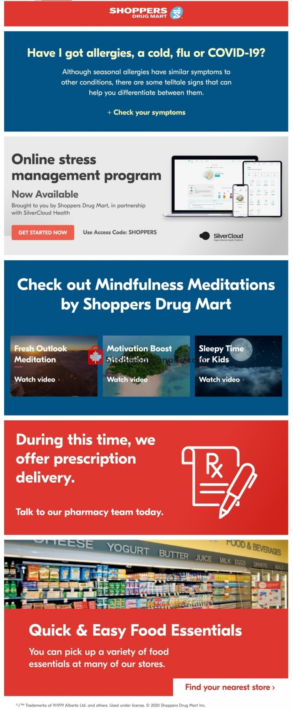 Flyer Shoppers Drug Mart Canada - from Saturday April 25, 2020 to Friday May 1, 2020