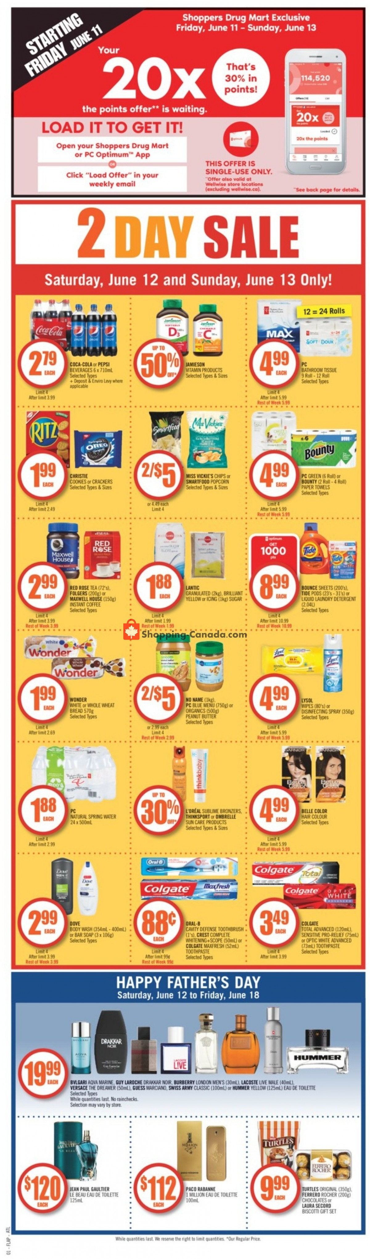 Flyer Shoppers Drug Mart Canada - from Saturday June 12, 2021 to Friday June 18, 2021