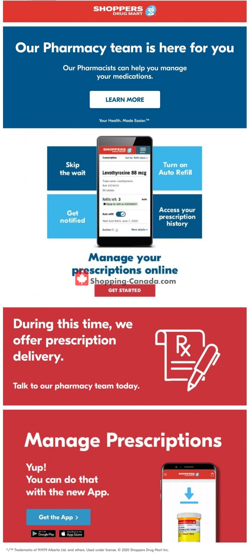 Flyer Shoppers Drug Mart Canada - from Saturday May 2, 2020 to Friday May 8, 2020