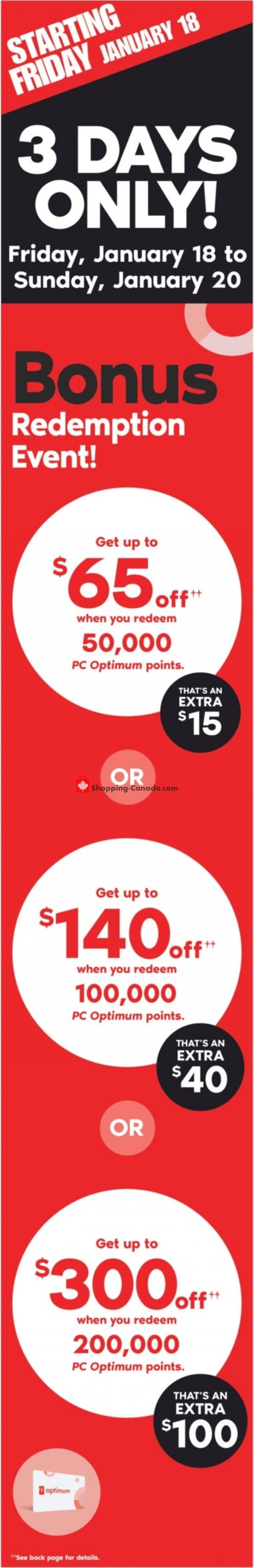 Flyer Shoppers Drug Mart Canada - from Saturday January 19, 2019 to Friday January 25, 2019