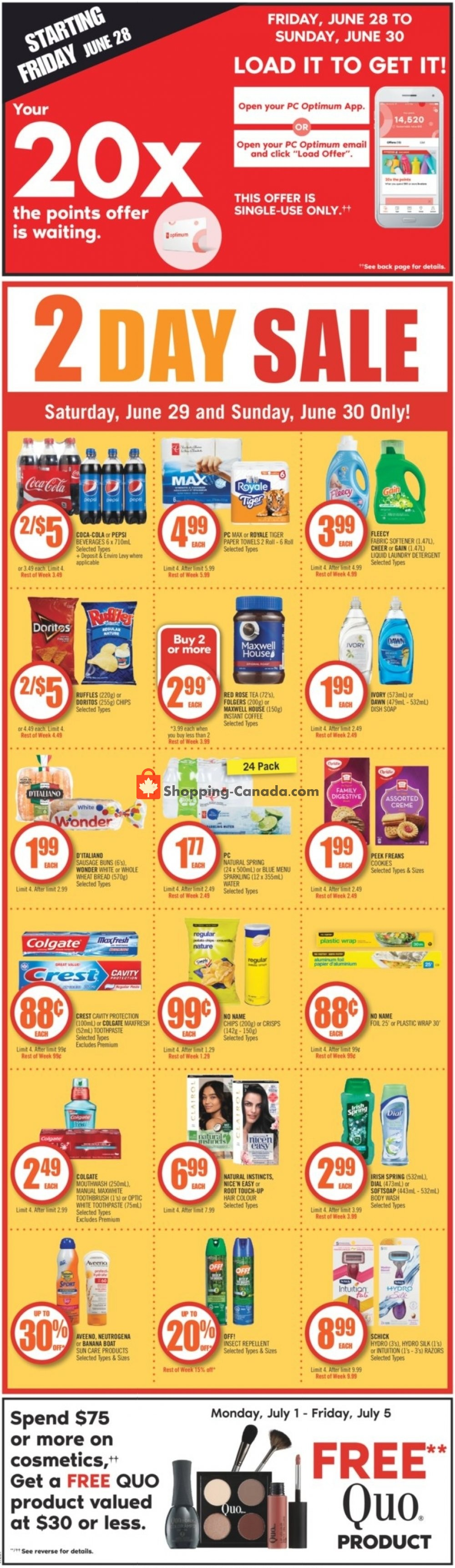 Flyer Shoppers Drug Mart Canada - from Saturday June 29, 2019 to Friday July 5, 2019