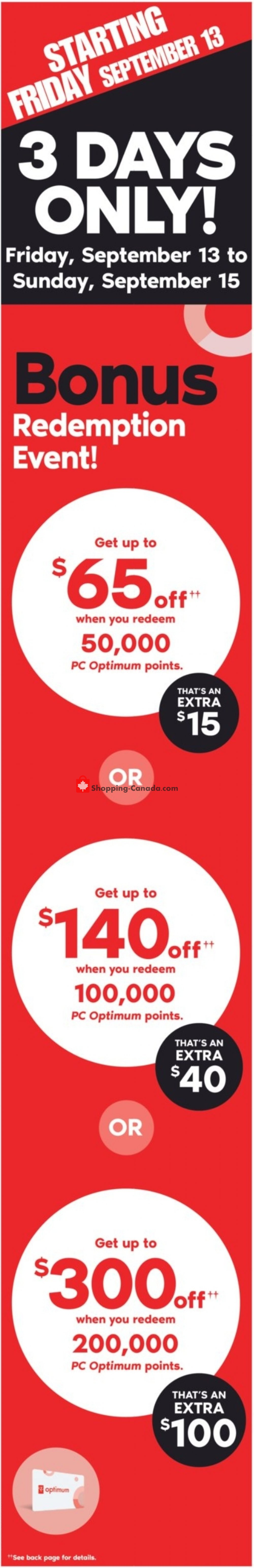 Flyer Shoppers Drug Mart Canada - from Saturday September 14, 2019 to Friday September 20, 2019