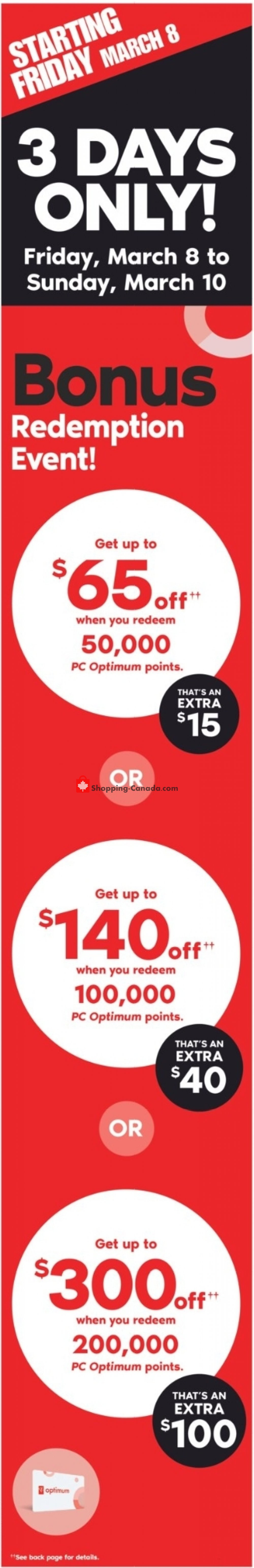Flyer Shoppers Drug Mart Canada - from Saturday March 9, 2019 to Thursday March 14, 2019
