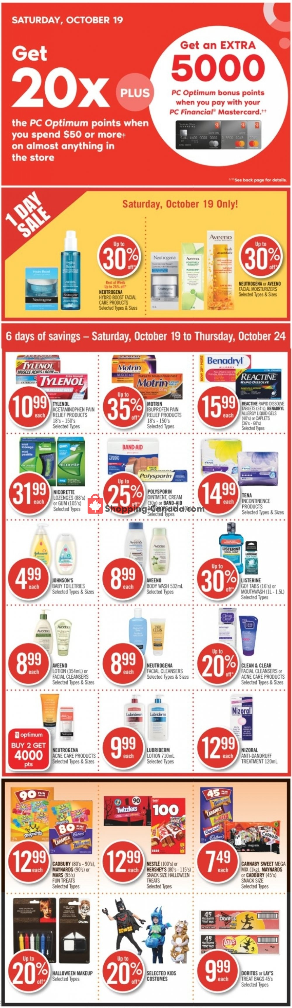 Flyer Shoppers Drug Mart Canada - from Saturday October 19, 2019 to Thursday October 24, 2019