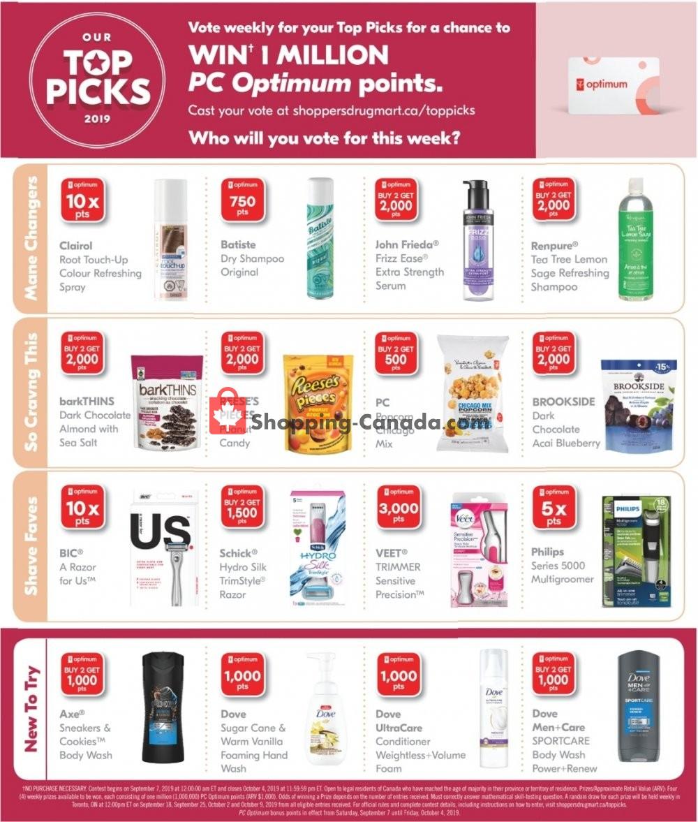 Flyer Shoppers Drug Mart Canada - from Saturday September 7, 2019 to Thursday September 12, 2019