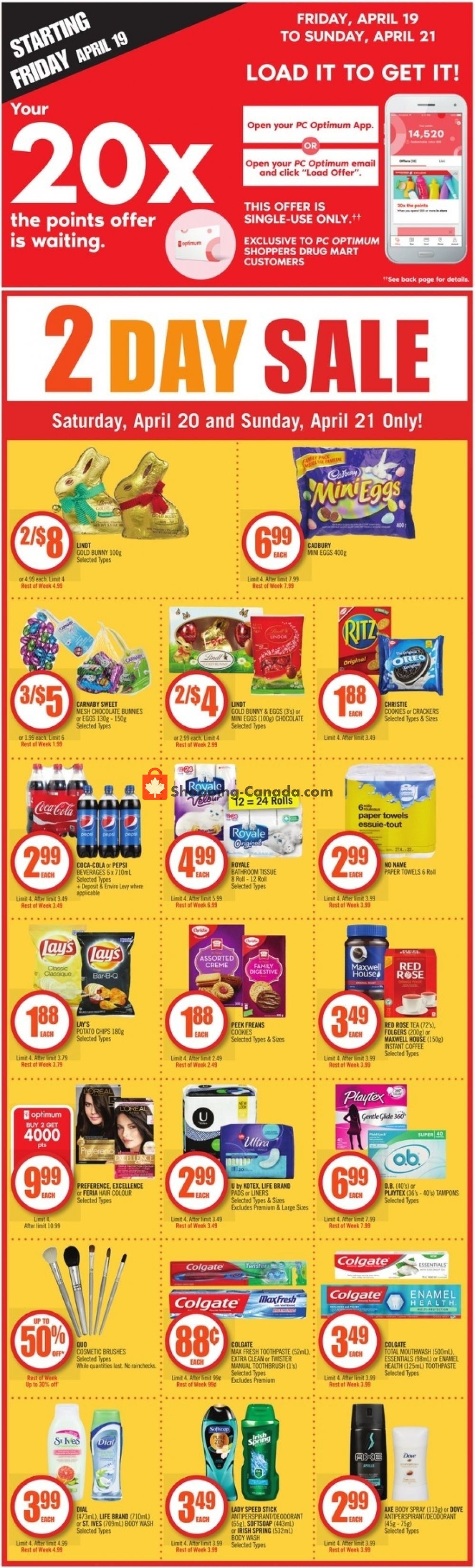 Flyer Shoppers Drug Mart Canada - from Saturday April 20, 2019 to Thursday April 25, 2019