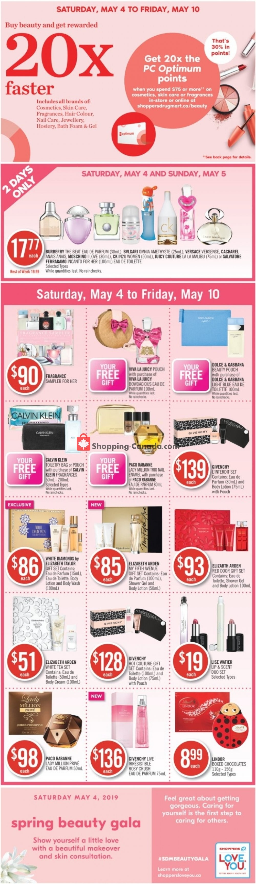 Flyer Shoppers Drug Mart Canada - from Saturday May 4, 2019 to Friday May 10, 2019