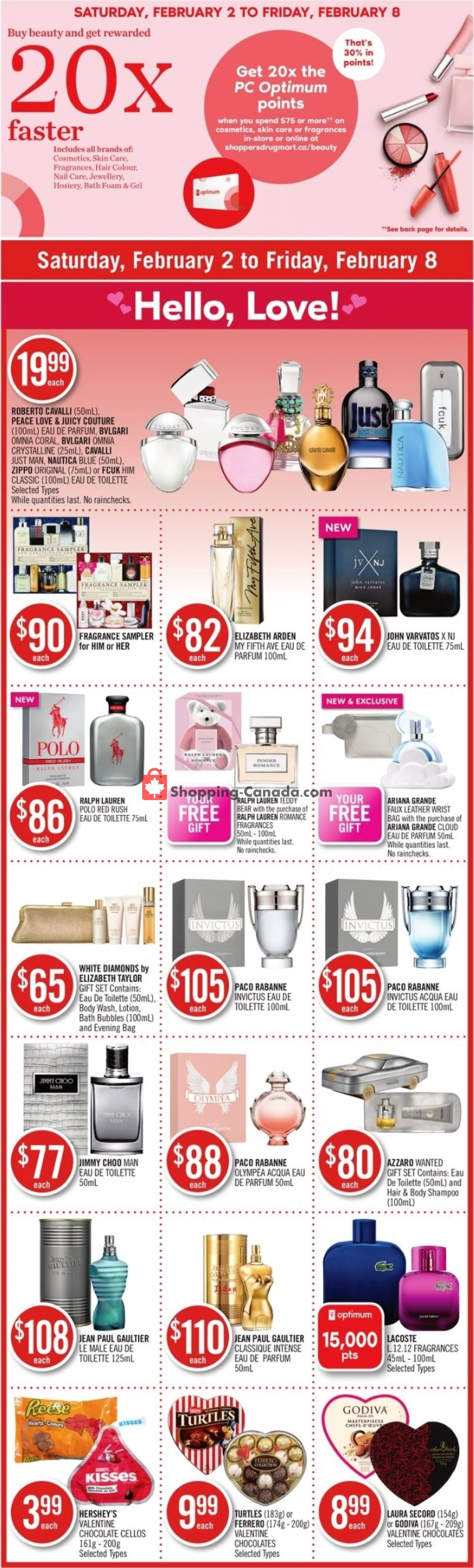Flyer Shoppers Drug Mart Canada - from Saturday February 2, 2019 to Friday February 8, 2019