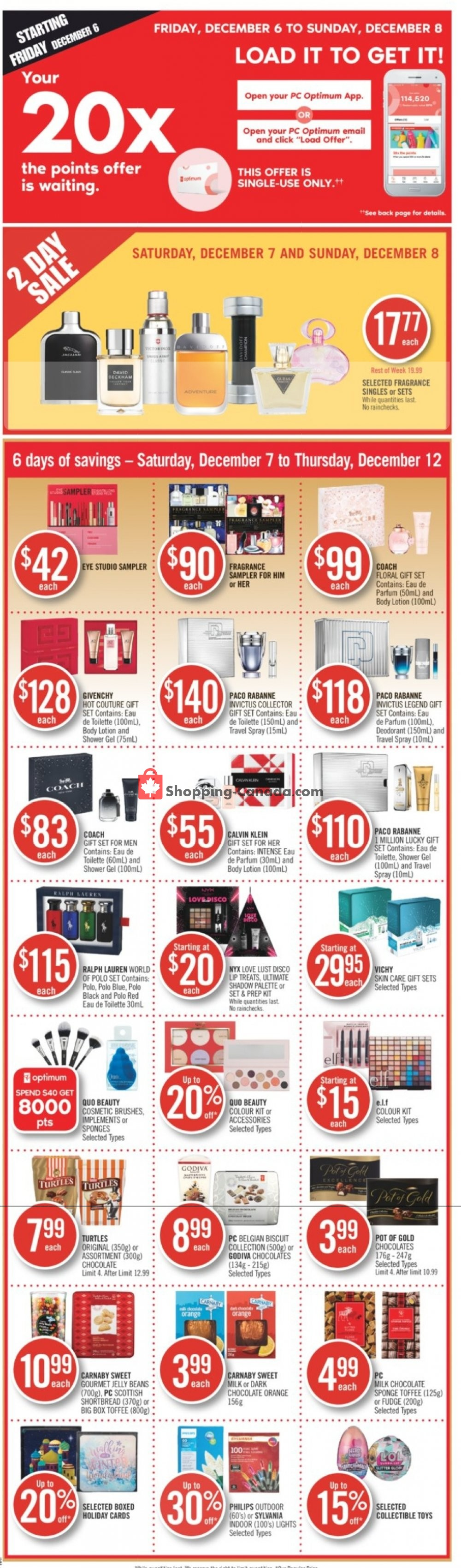 Flyer Shoppers Drug Mart Canada - from Saturday December 7, 2019 to Thursday December 12, 2019