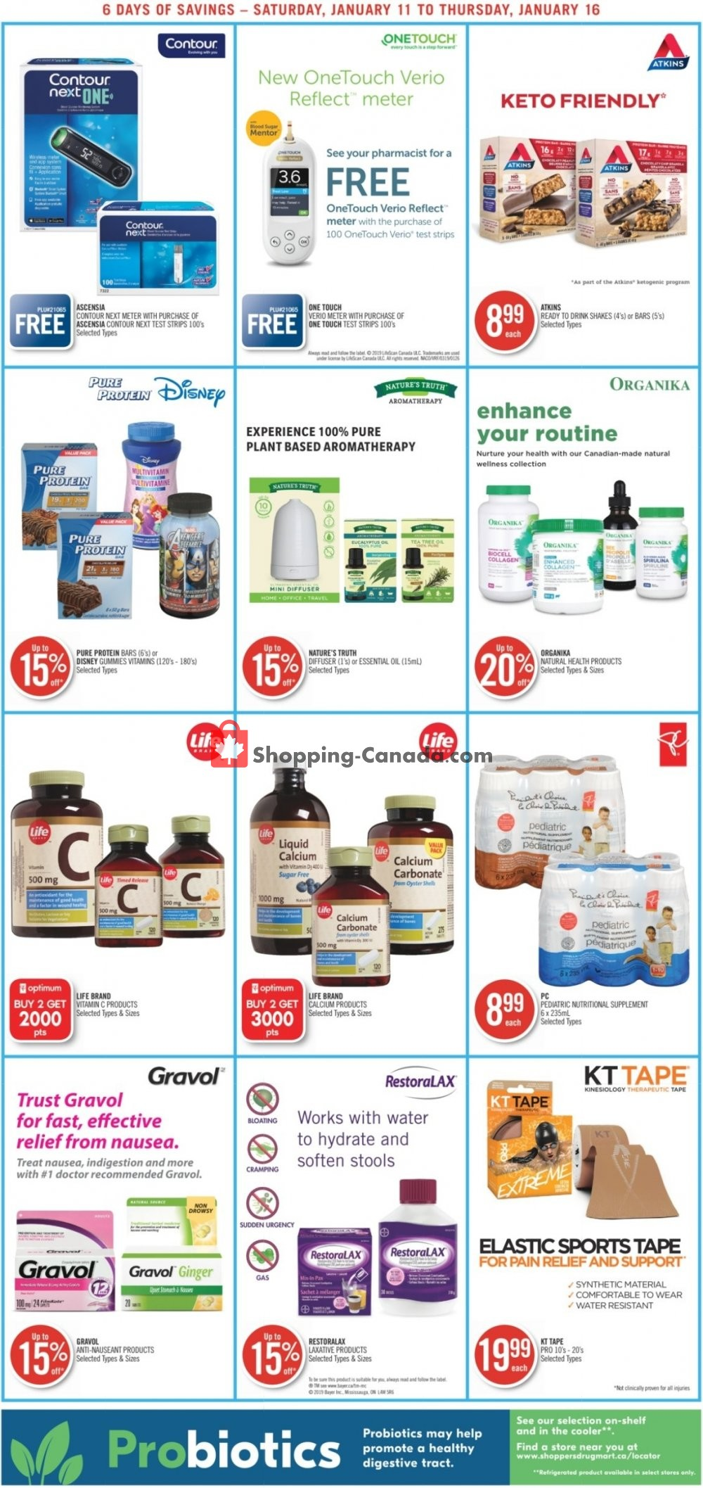 Flyer Shoppers Drug Mart Canada - from Saturday January 11, 2020 to Thursday January 16, 2020
