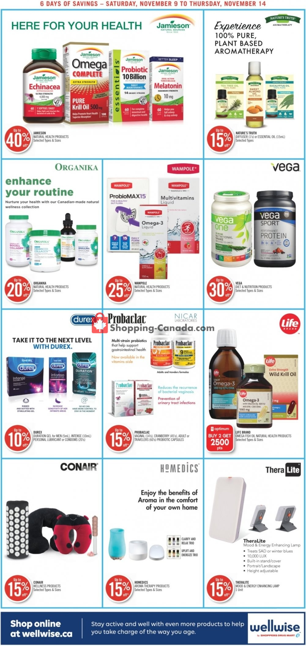 Flyer Shoppers Drug Mart Canada - from Saturday November 9, 2019 to Thursday November 14, 2019