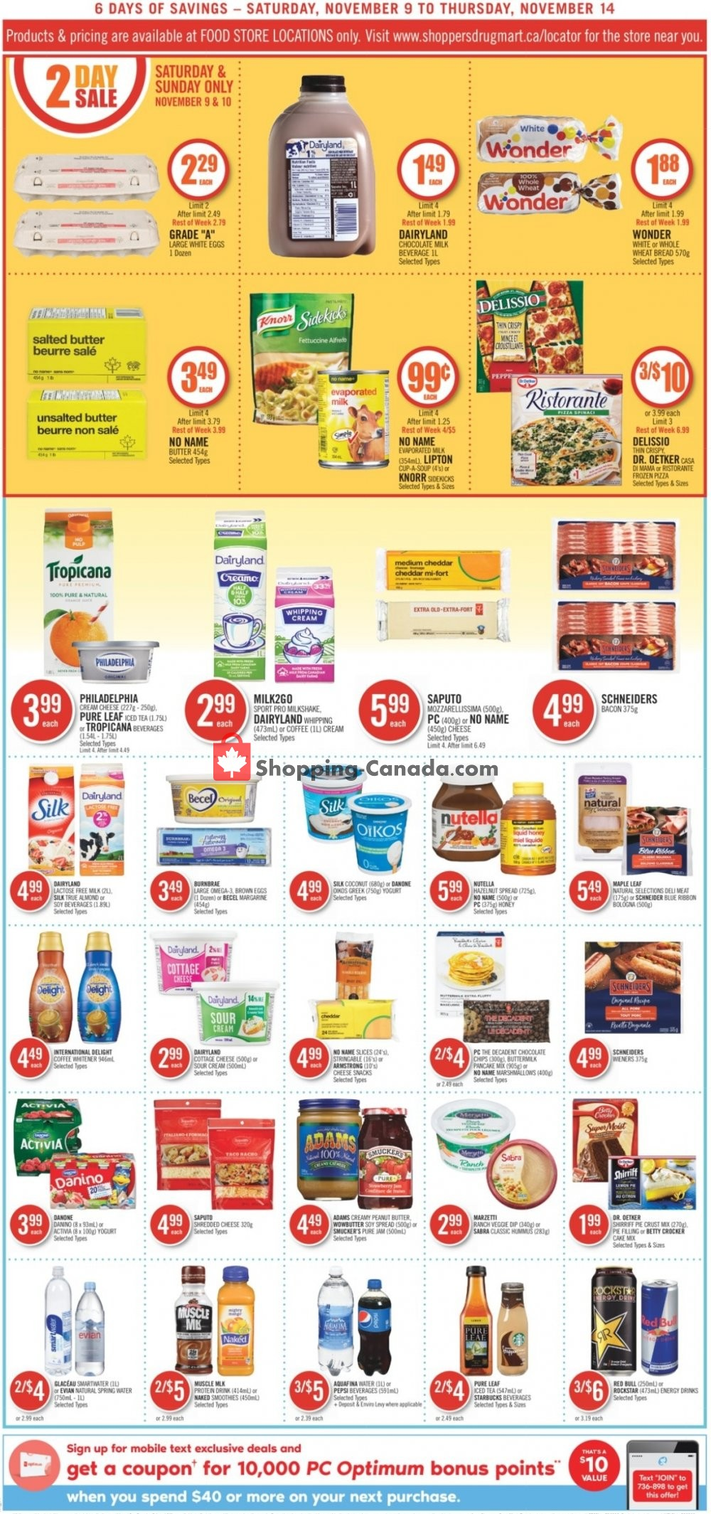 Flyer Shoppers Drug Mart Canada - from Saturday November 9, 2019 to Thursday November 14, 2019