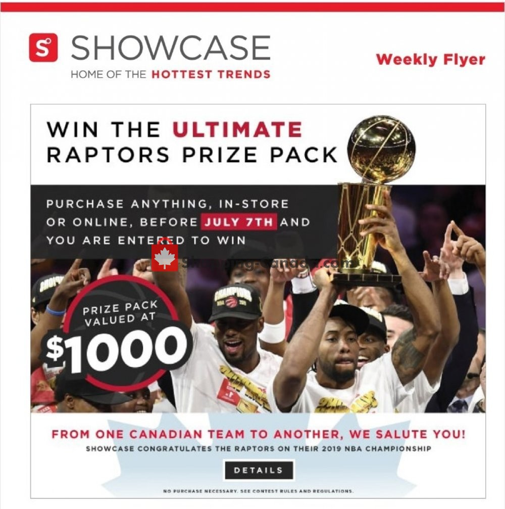 Flyer Showcase Canada - from Thursday June 27, 2019 to Monday July 1, 2019