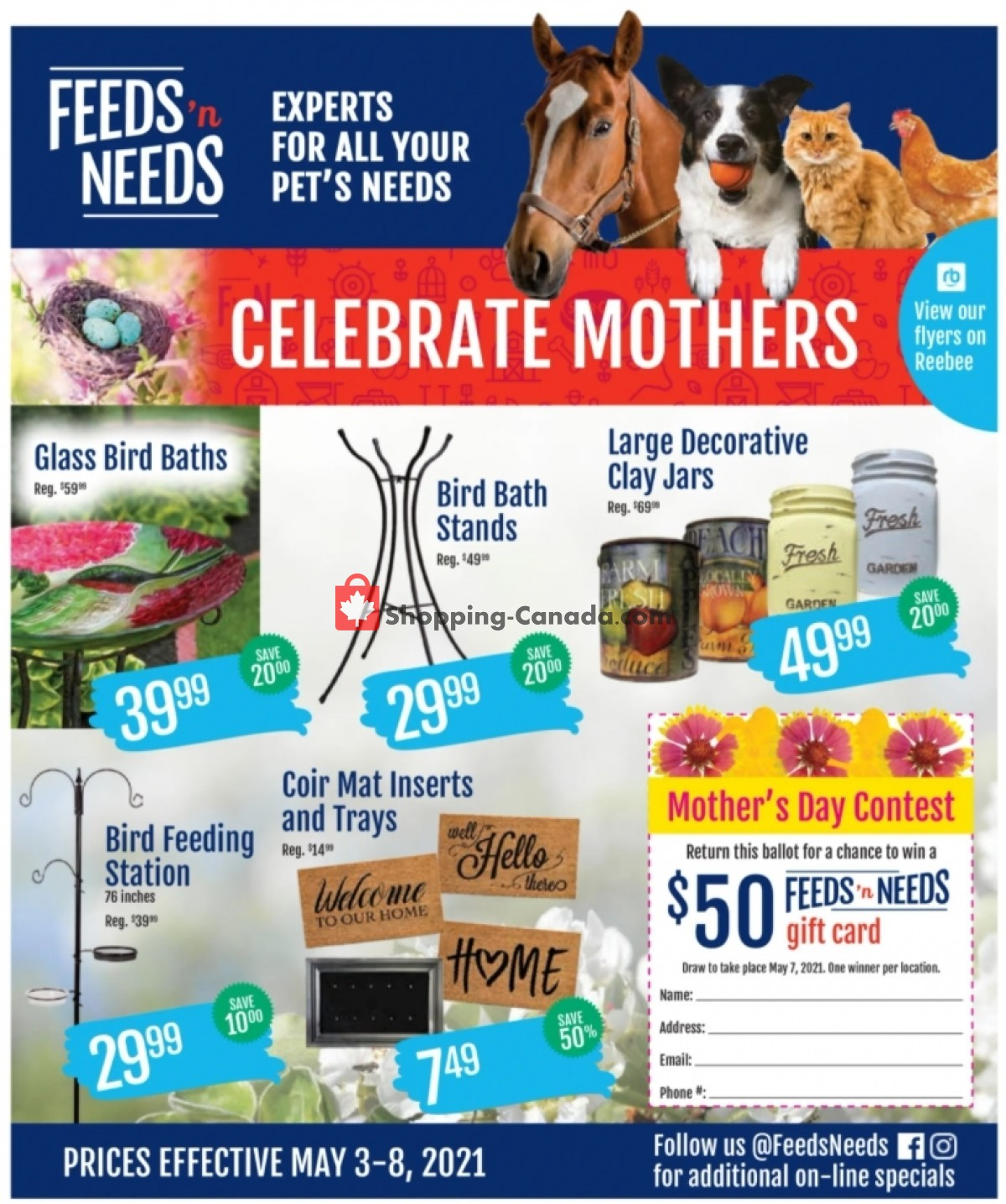 Flyer ShurGain Feeds'n Needs Canada - from Monday May 3, 2021 to Saturday May 8, 2021