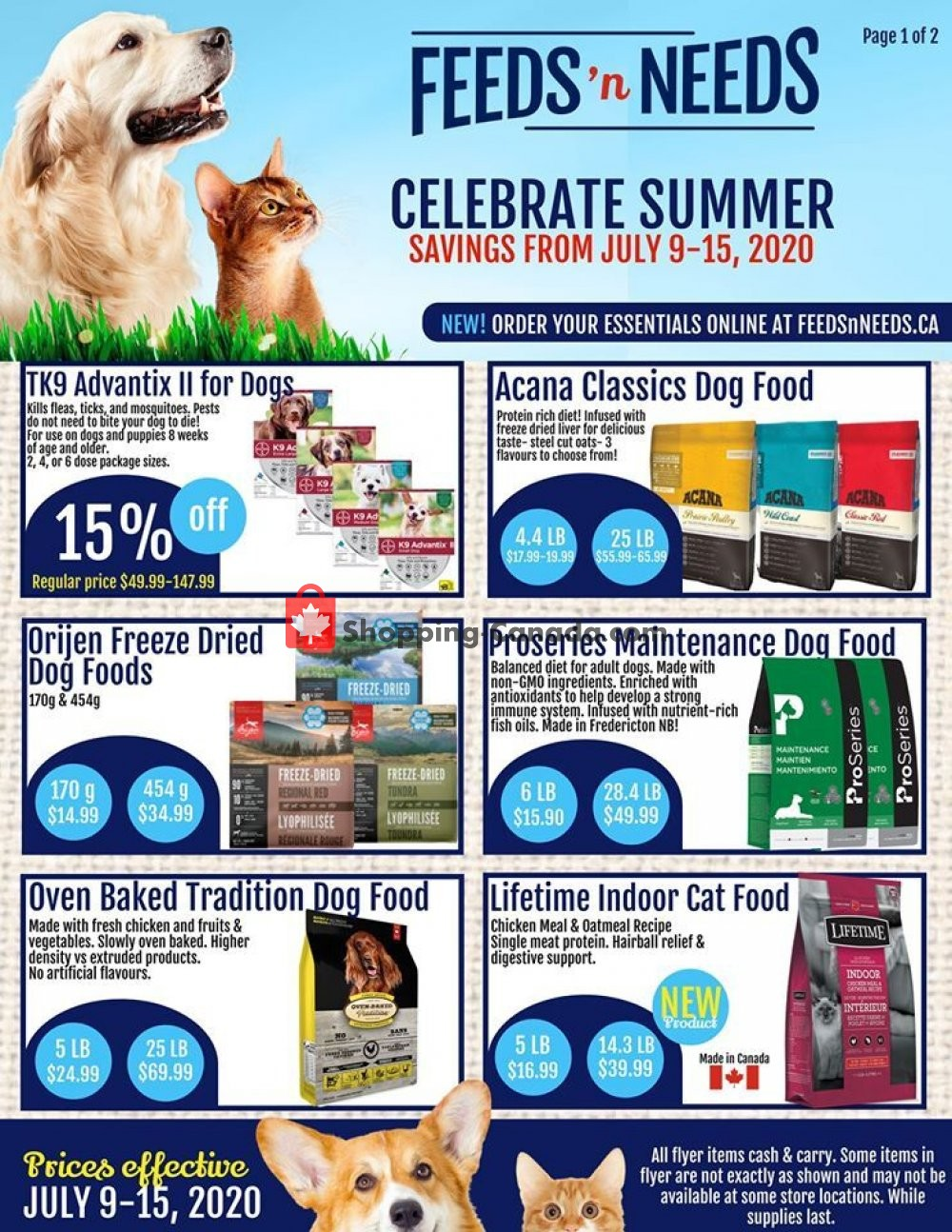 Flyer ShurGain Feeds'n Needs Canada - from Thursday July 9, 2020 to Wednesday July 15, 2020