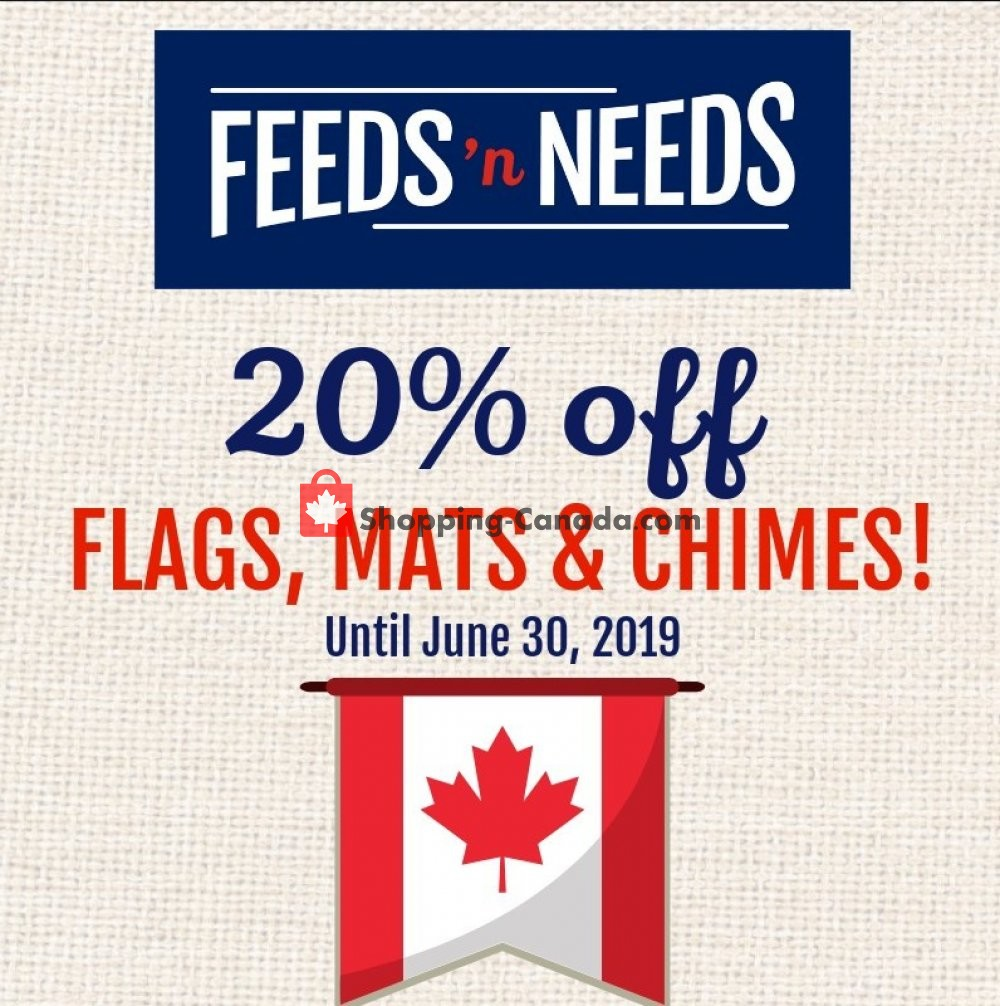 Flyer ShurGain Feeds'n Needs Canada - from Thursday June 27, 2019 to Sunday June 30, 2019