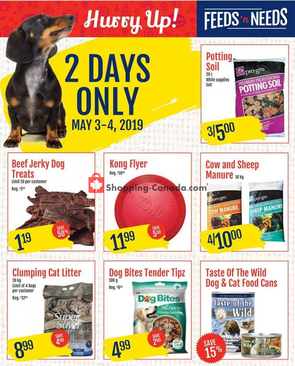 Flyer ShurGain Feeds'n Needs Canada - from Friday May 3, 2019 to Saturday May 4, 2019