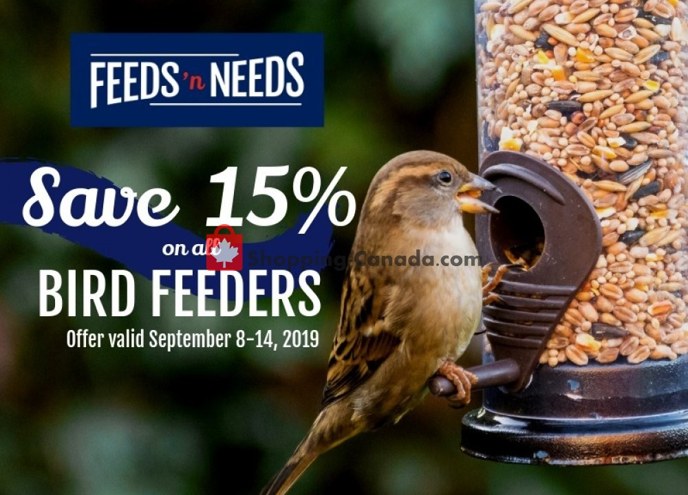 Flyer ShurGain Feeds'n Needs Canada - from Sunday September 8, 2019 to Saturday September 14, 2019