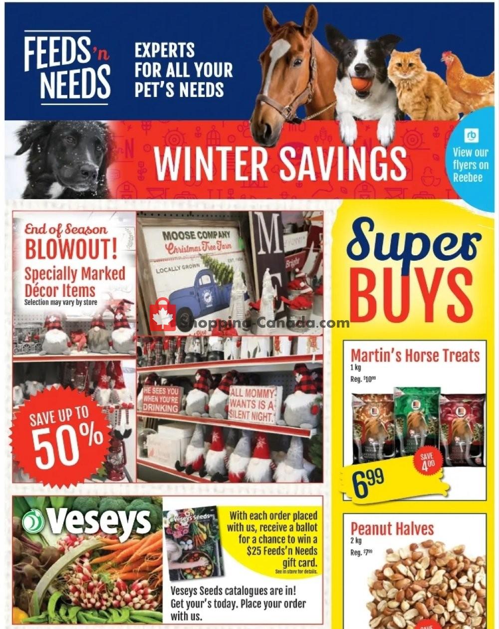 Flyer ShurGain Feeds'n Needs Canada - from Thursday January 21, 2021 to Saturday January 30, 2021