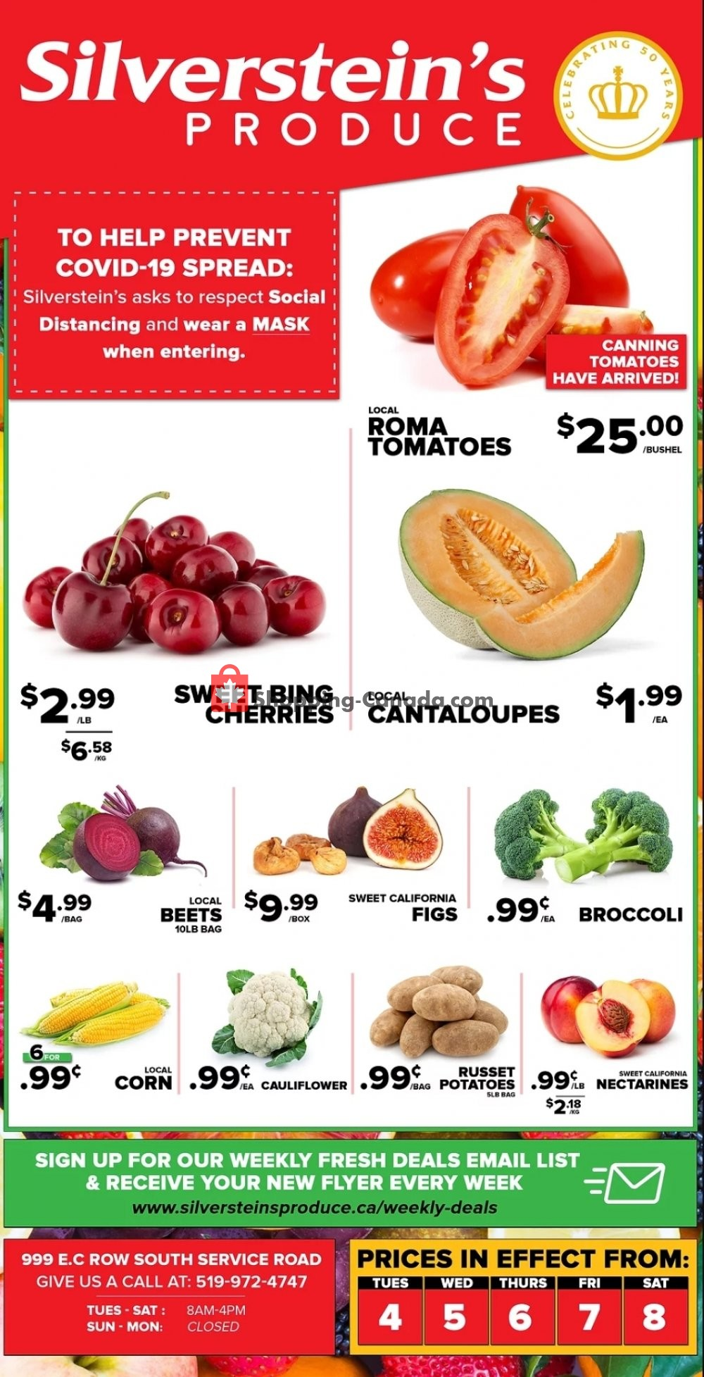 Flyer Silverstein's Produce Canada - from Tuesday August 4, 2020 to Saturday August 8, 2020