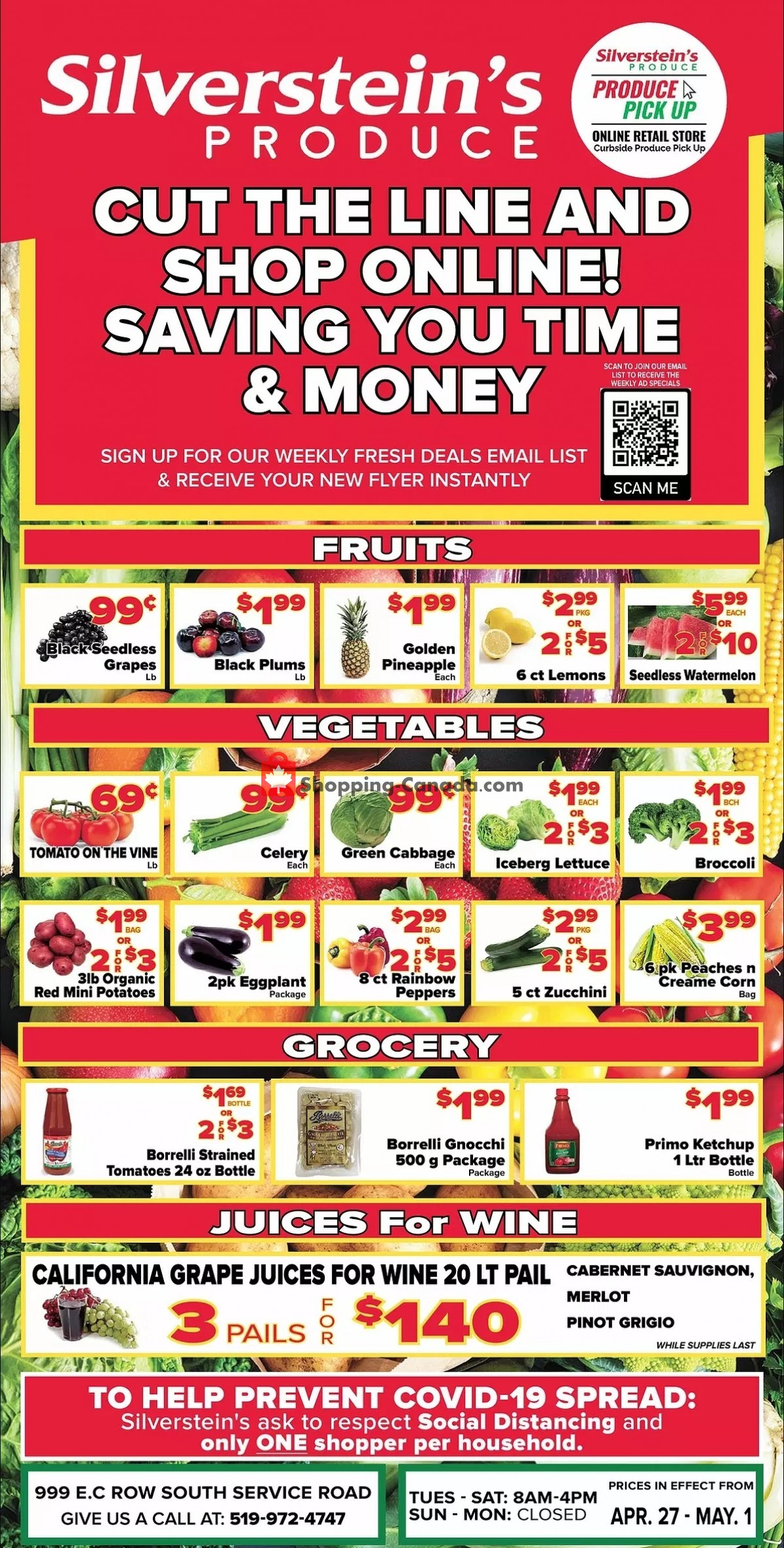Flyer Silverstein's Produce Canada - from Tuesday April 27, 2021 to Saturday May 1, 2021
